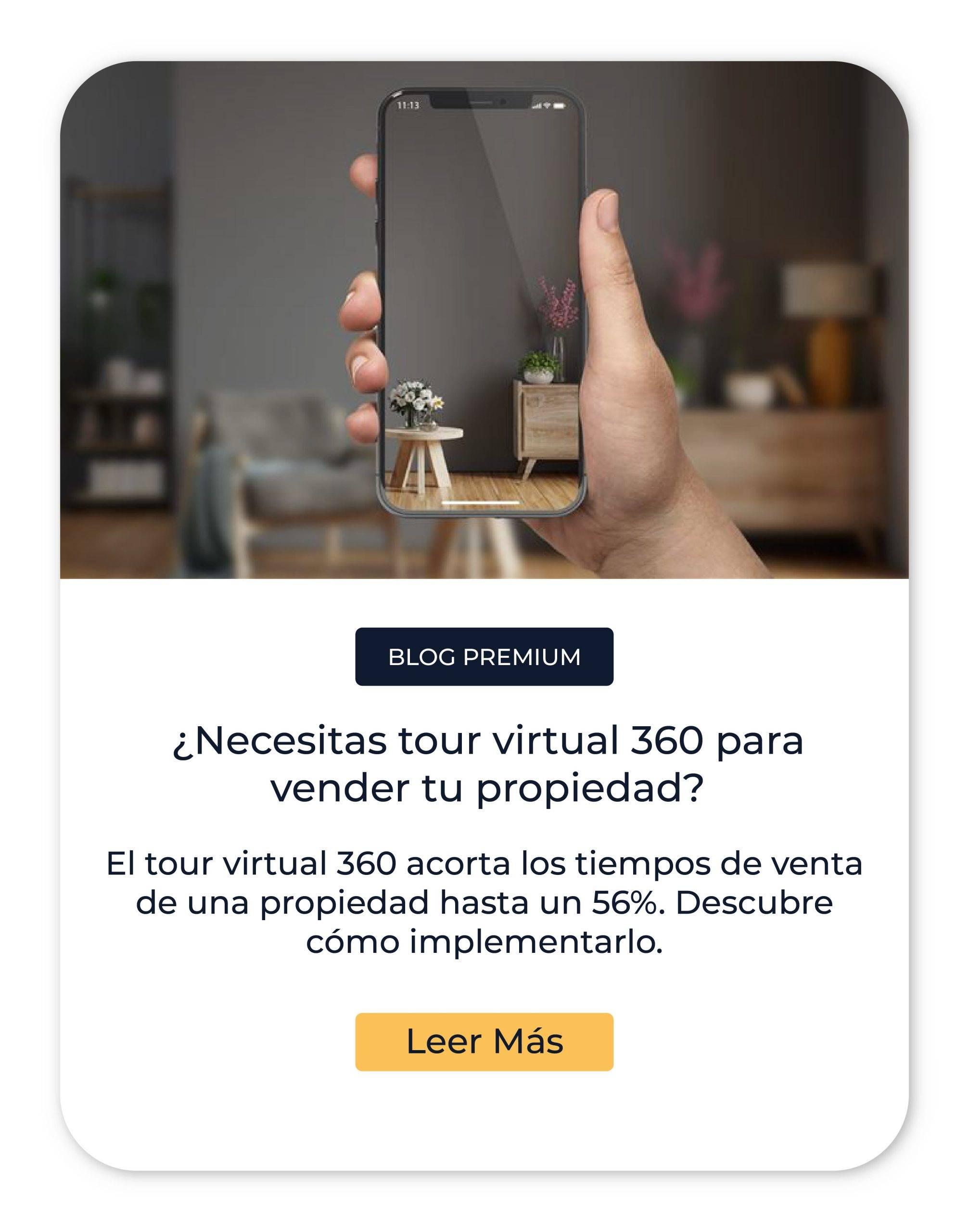 Blog - Tour virtual 360 para vender una propiedad